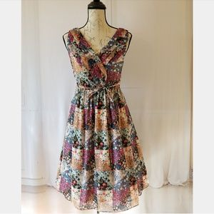 Jessica Simpson Floral Patchwork Maternity Dress